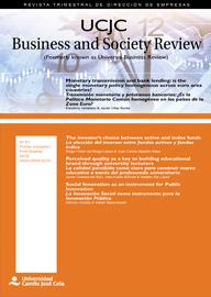 Portada UCJC Business & Society Review Volumen 16 Numero 1 Año 2019